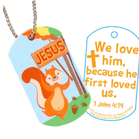 Jesus is Nuts About Me Dog Tag Necklace