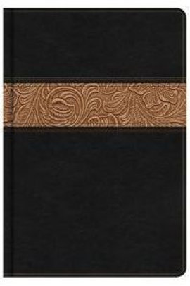NKJV Reader's Bible black/brown LeatherTouch