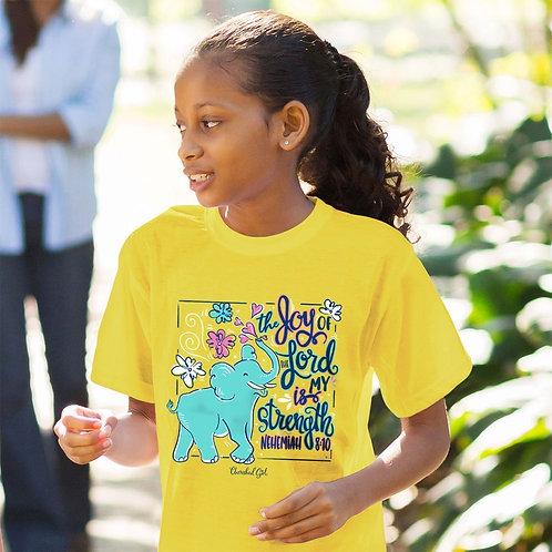 Cherished Girl Christian T-Shirt Joy of the Lord Nehemiah 8:10