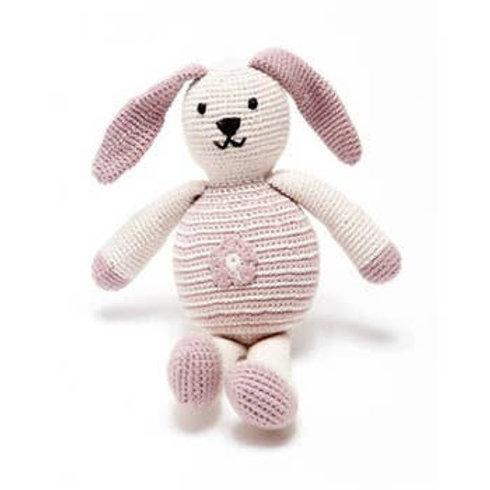 Organic Pink Flower Motif Bunny