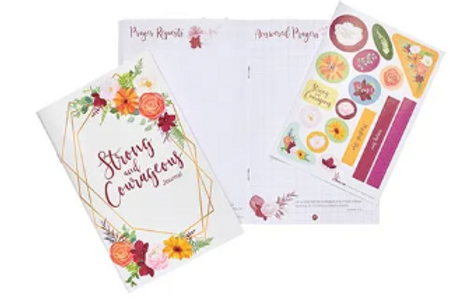 Strong & Courageous Journal w/Stickers