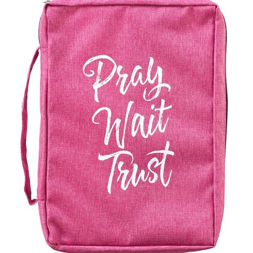 Pray Wait Trust Pink Poly-canvas