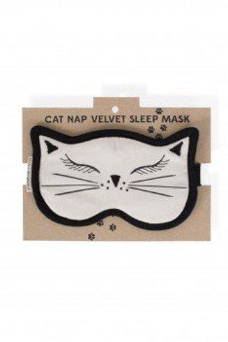 Cat Nap Velvet Mask