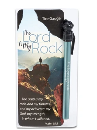 The Lord is My Rock Tire Gauge