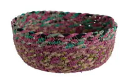 Swirling Sari Basket