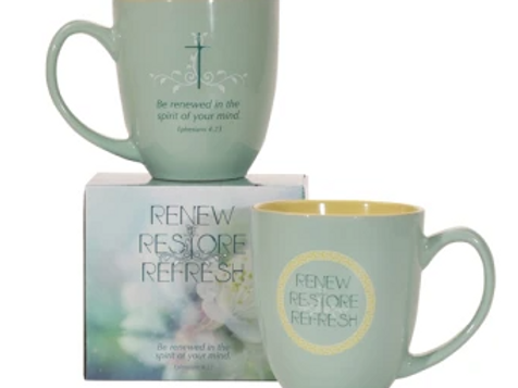 Renew, Restore, Refresh Ceramic Mug