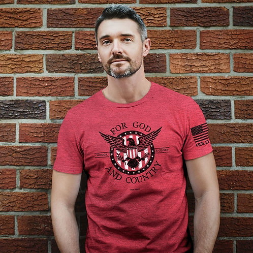 HOLD FAST Mens T-Shirt Honor And Glory God And Country