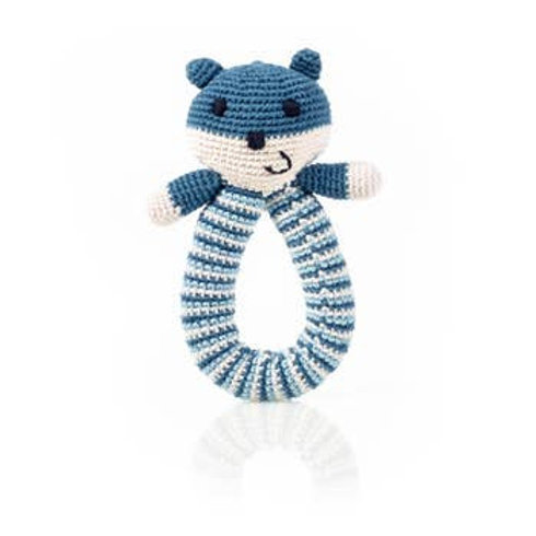 Blue Bear or Pink Bear Ring Rattle