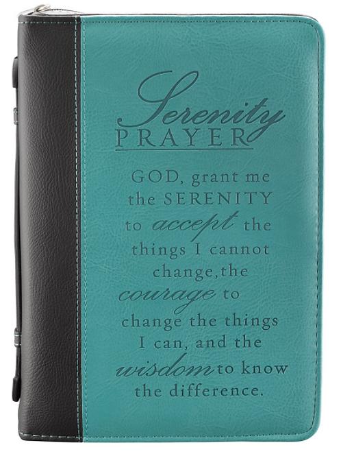 Serenity Prayer Two-tone Aqua Faux Leather