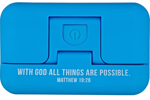 Clip-on Bible light -With God All Things Are Possible