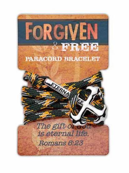 Forgiven & Free Paracord Bracelet