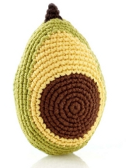 Friendly Avocado Rattle