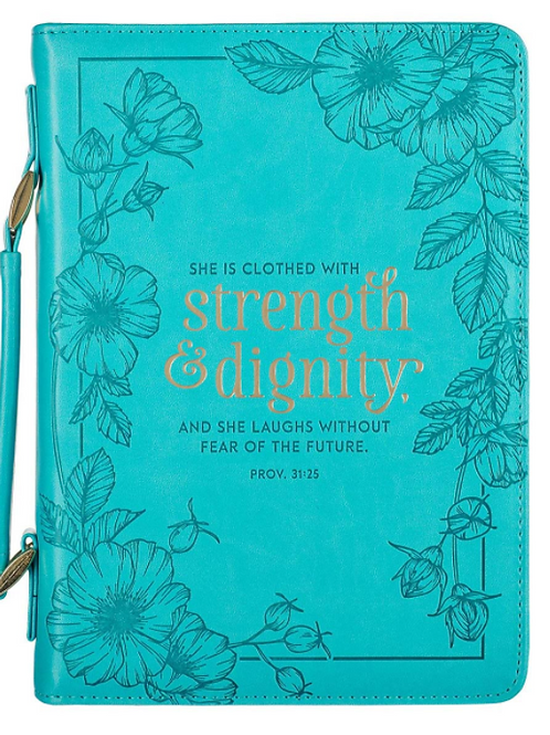 Strength & Dignity Teal Faux Leather