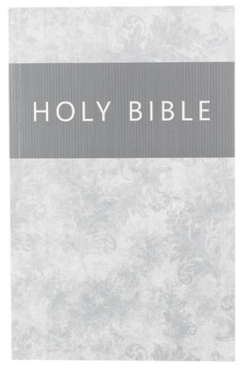 Silver Damask Outreach Bible