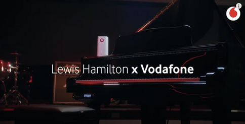 Lewis Hamilton x Vodafone 5G