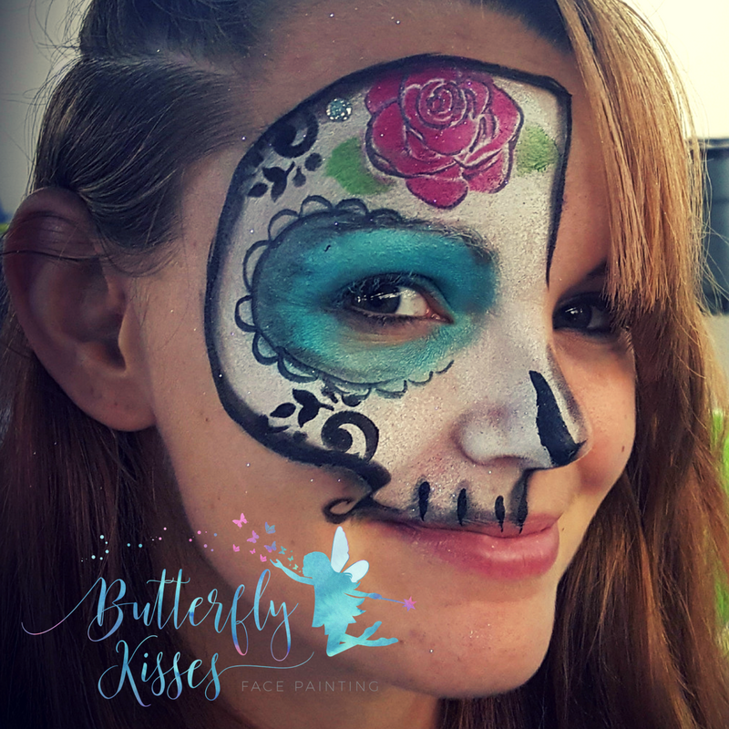 square design,sugar skull half