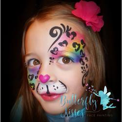 rainbow leopard eye with hearts (1)