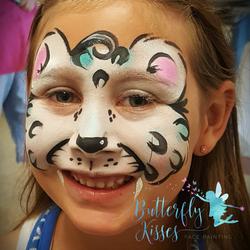 square design, watermark snow leopard