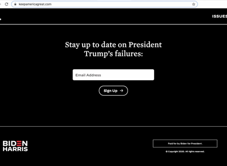 Biden campaign buys Keep America Great website domain to post anti-Trump messages