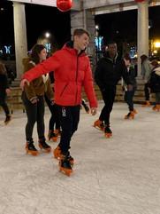Veillée à la patinoire