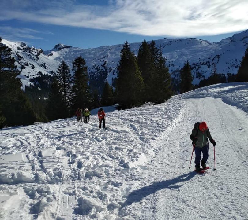 Randonné sur la neige