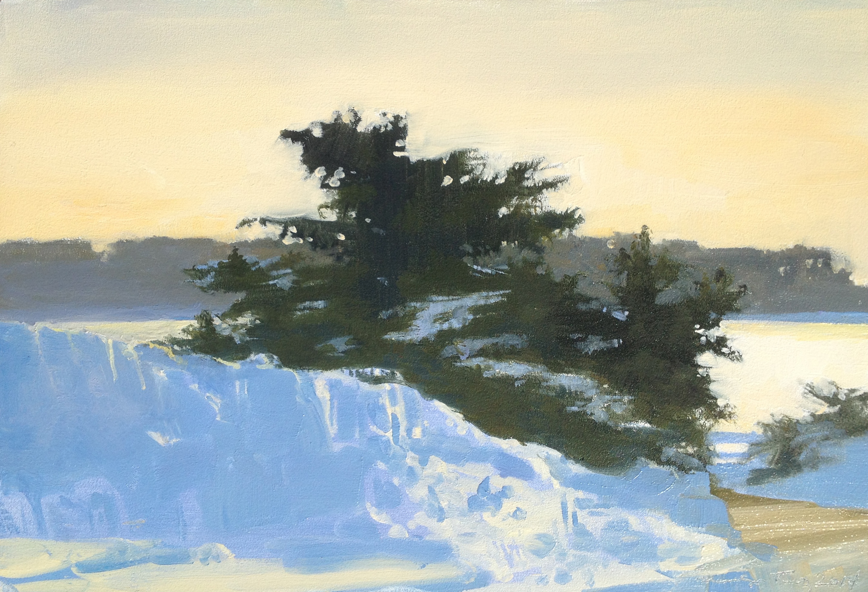 Sunset Snow at Banfi