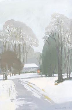Snow from Newbury Street Window