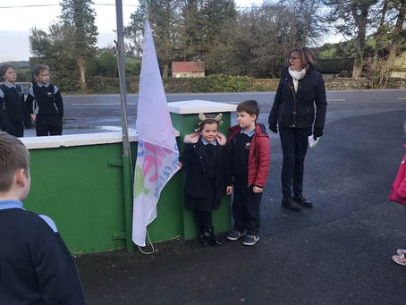 Raising our Daily Mile Flag