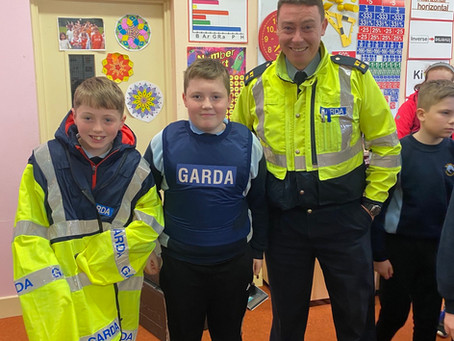 A visit from the local Garda!!!