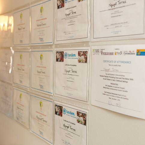 Early Childhood Classes Certificates
