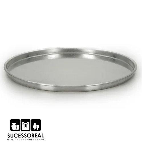 Forma de pizza 35cm alumínio polido