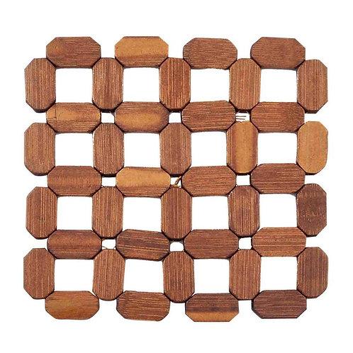 Descanso de panela de bambu 16x16cm TRC8062