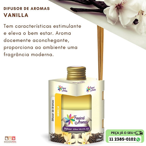 DIFUSOR CAIX TROPICAL AROMAS 250ML VANILLA