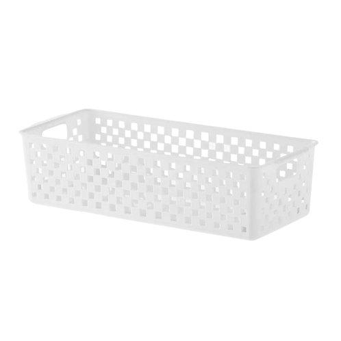 Cesto organizador branco Quadratta 34x15x9