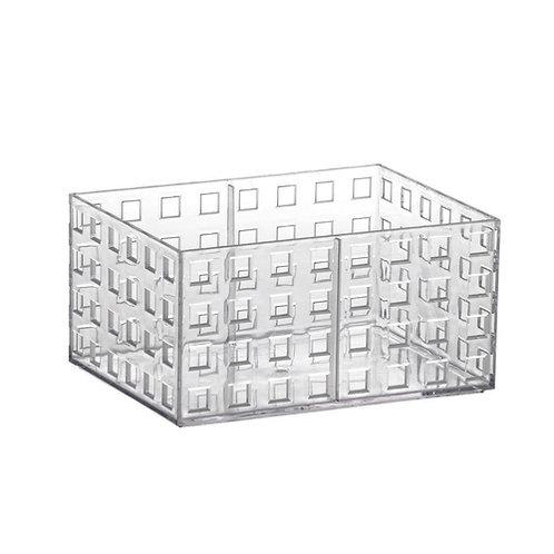 Organizador empilhável 16x11,5x8 cristal quadratta