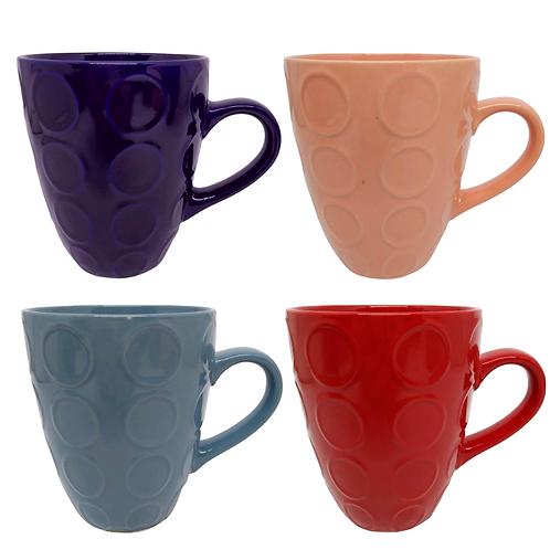 Caneca de cerâmica cores sortidas 300ml WX7589