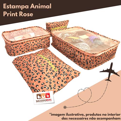 Kit Necessaires Para Mala de Viagem Com 4 Peças HB69414