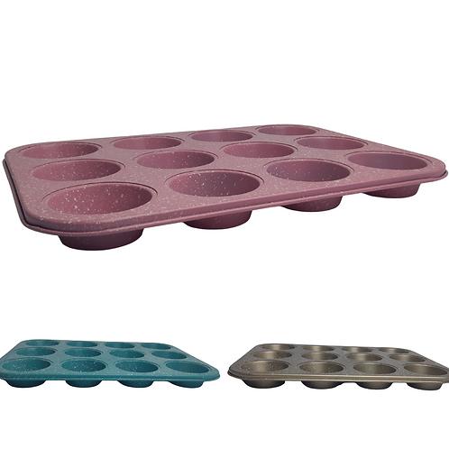 Forma De Cupcake 12 Cavidades Antiaderente Teflon 13041-0
