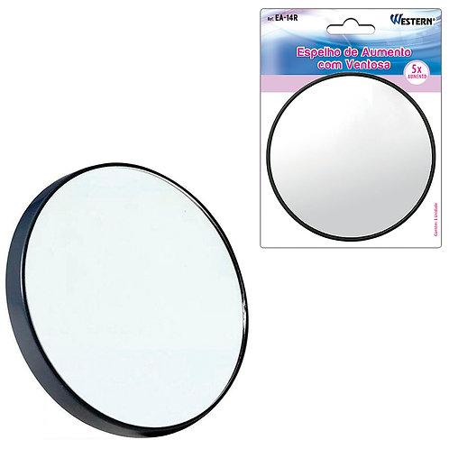 Espelho Redondo Com Ventosa 14cm WX4108