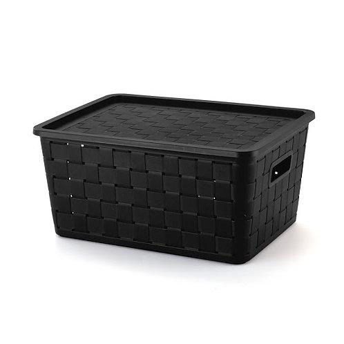 Caixa prática rattan 21L - preto 1605PR