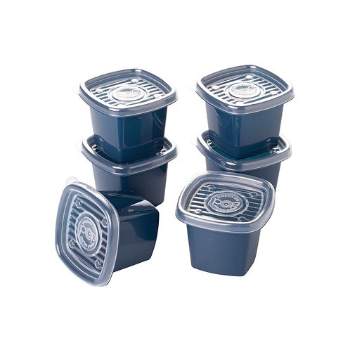 Conjunto Pote Pop Quadrado 6 Pçs 5971 Plasútil