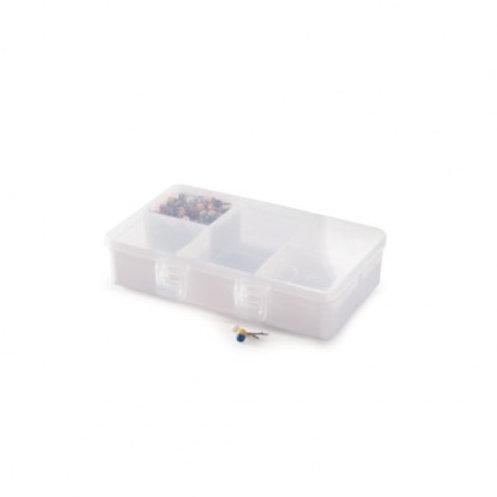 Caixa de Plástico Organizadora P com 5 Divisórias Internas