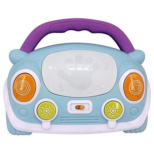 Carrinho musical fusca baby com luz brinca bebê