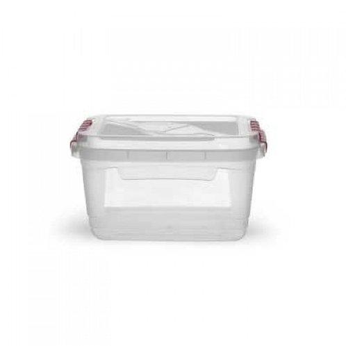 Caixa retangular com trava 2,5L transparente