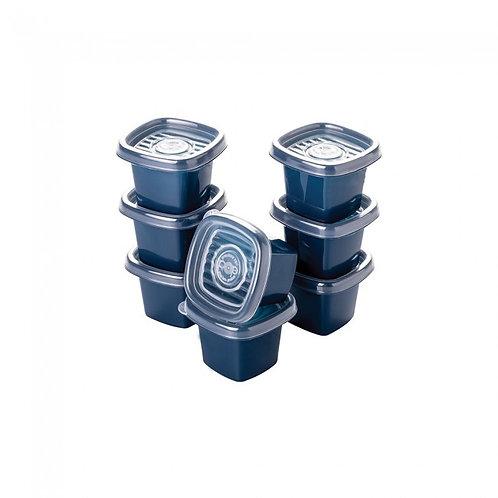 Conjunto Pote Pop Quadrado 8 Pçs 5971 Plasútil