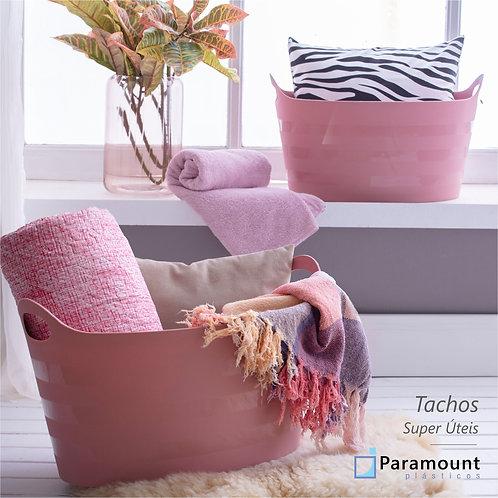 Cesto Tacho Organizador De Plástico Oval Com Alça 10lts Paramount