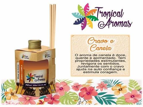 DIFUSOR TROPICAL AROMAS CX 250ML CRAVO E CANELA
