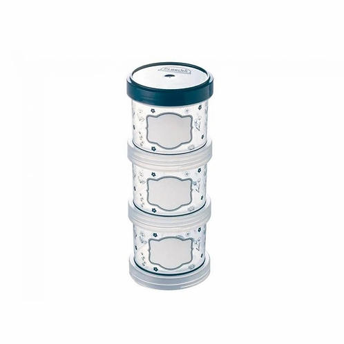 Porta Tempero Organizador Plástico Empilhável Tampa Rosca 3 Unidades Plasútil