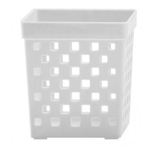 Cesto organizador Quadratta 9x9x10cm branco 895
