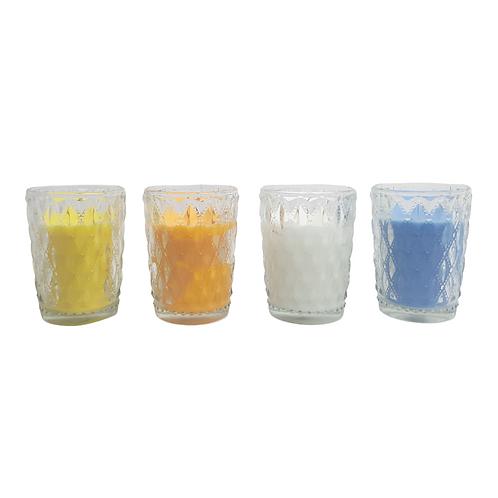 Castiçal copo com vela 5,3x9cm RMI7026